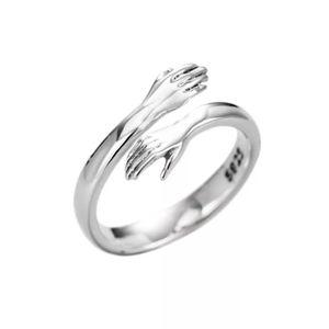 New creative 925 Sterling silver hug hand peace